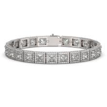 15.87 CTW Princess Diamond Designer Bracelet 18K White Gold - REF-2895K8W - 42635