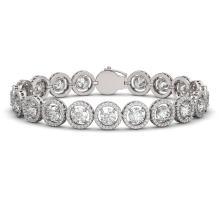 13.42 CTW Diamond Designer Bracelet 18K White Gold - REF-2174T2M - 42581