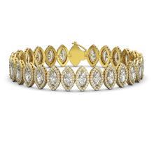 17.55 CTW Marquise Diamond Designer Bracelet 18K Yellow Gold - REF-3196N4Y - 42781
