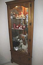 Lighted Corner Curio Display Cabinet