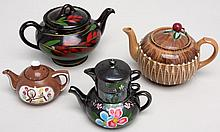 Four Vintage Tea Pots (Say 'Tea Pot Lot' 5x Fast!)