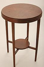 Art Deco Style Round Wood End Table