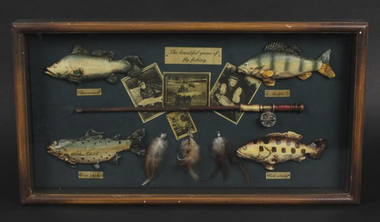 Beautiful fly fishing shadow box display case for Shadow fly fishing