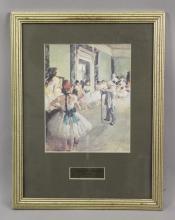 Edgar Degas Ballet Class Framed Print