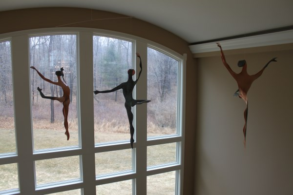 Mark White Kinetic Wind Copper Mobile Sculptures