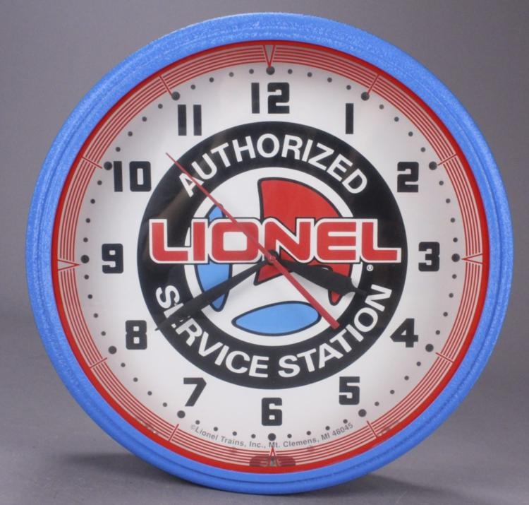 Lionel Authorized Service Lighted Round Wall Clock