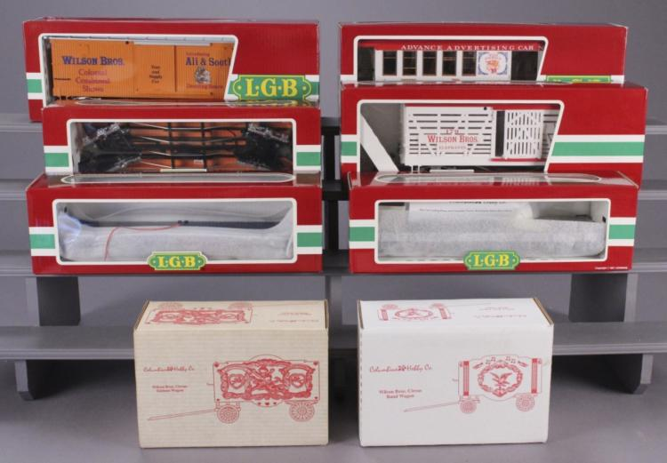 LGB Wilson Bros. Circus Large Scale Train Cars Lot