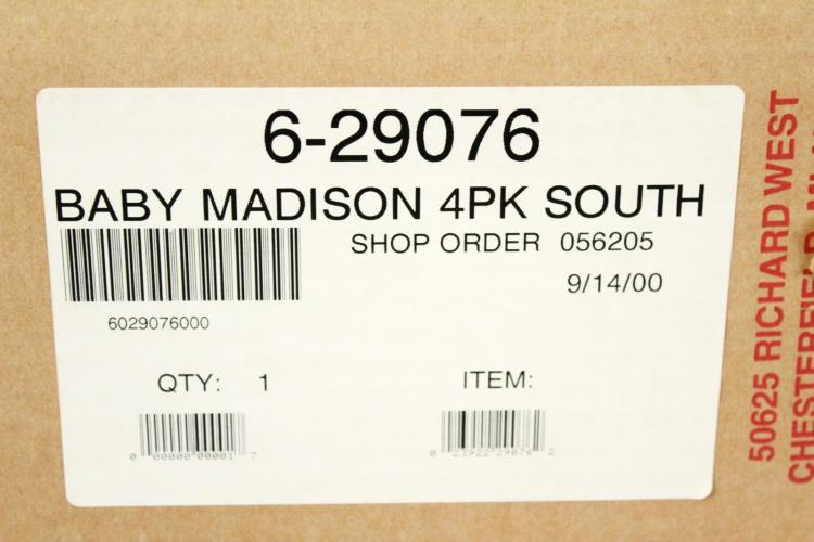 Lionel 6-29076 Southern RR Baby Madison 4-Pk