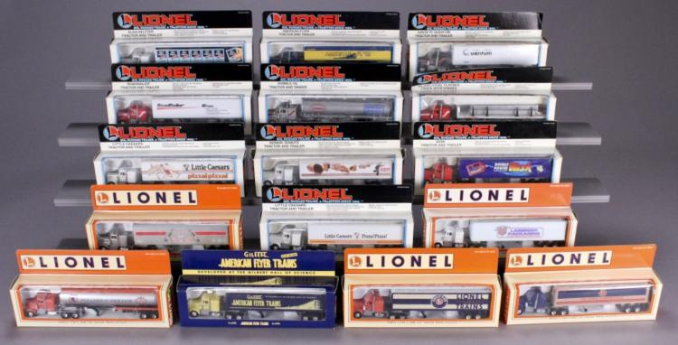 16 Assorted Lionel Tractors & Trailers in Boxes