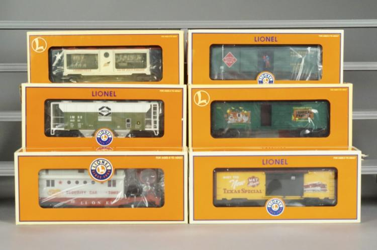 6 Lionel Collectible Train Cars in Original Boxes