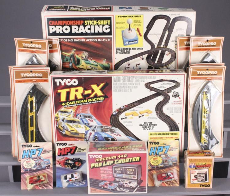 Tyco Slot Car Racing Track & Accessories Lot