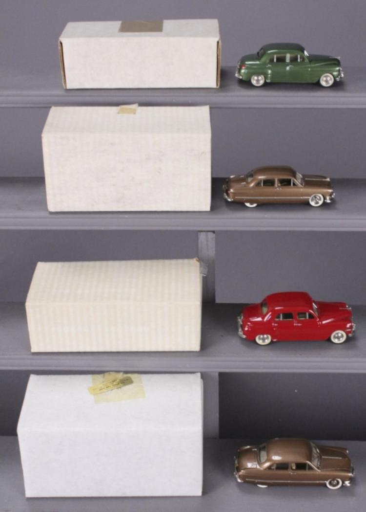 4 Motor City Model Cars with Original Boxes