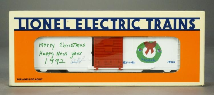Lionel 6-19916 Employee Christmas Boxcar 1992