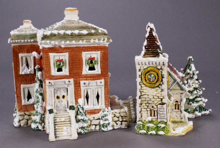 WB Studios Christmas Village Buildings - Signed