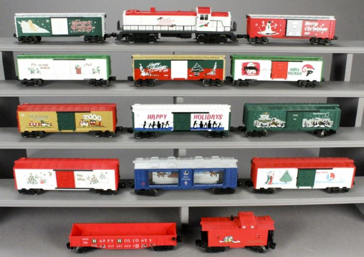 14 Lionel Assorted Christmas Holiday Train Cars