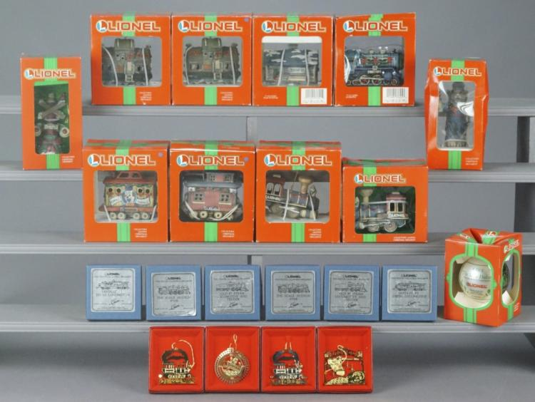 21 Assorted Lionel Christmas Ornaments