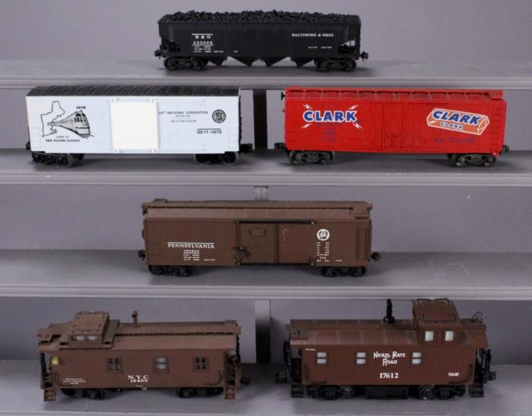 6 Assorted Collectible Train Cars - Various Brands