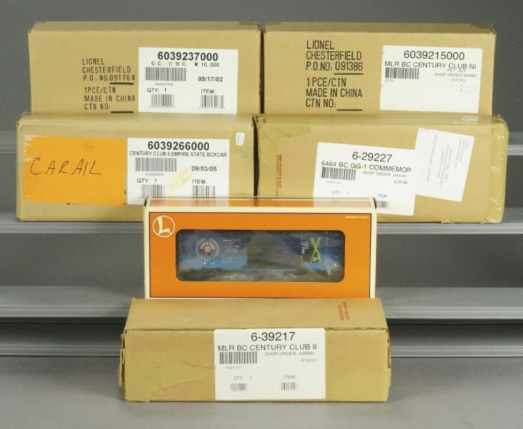 6 Lionel Assorted Collectible Cars in Boxes