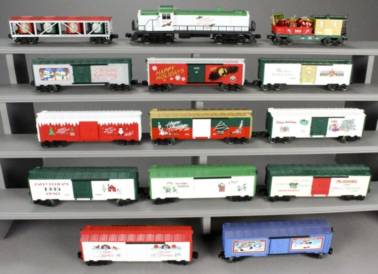 14 Lionel Christmas Holiday Train Cars & Loco