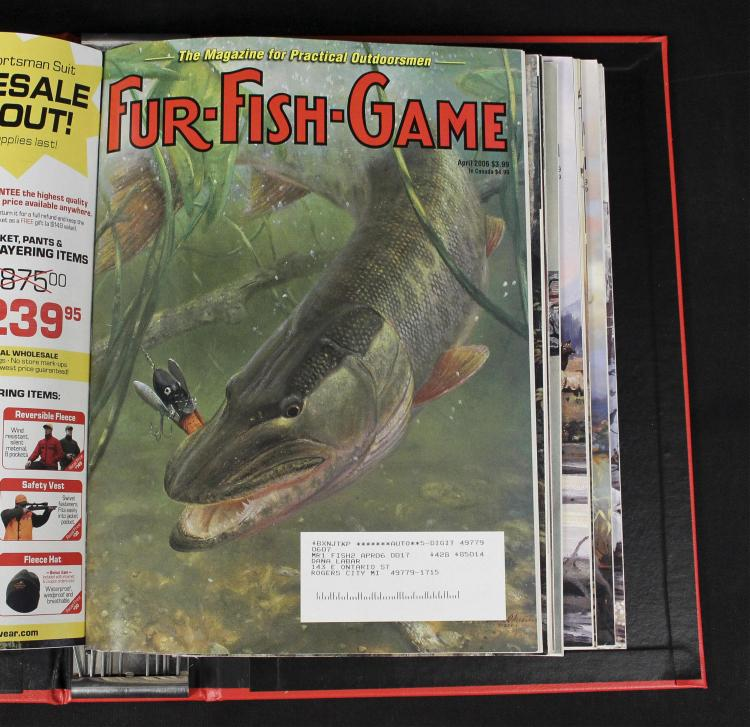 Collection of fur fish game magazines 39 06 39 12 for Fur fish and game
