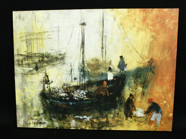 Fishing Boat Print Litho by Patricia Cunningham