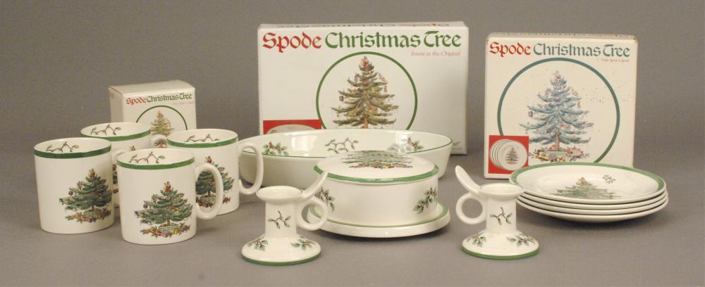 Spode Christmas Tree Dinnerware & Cups