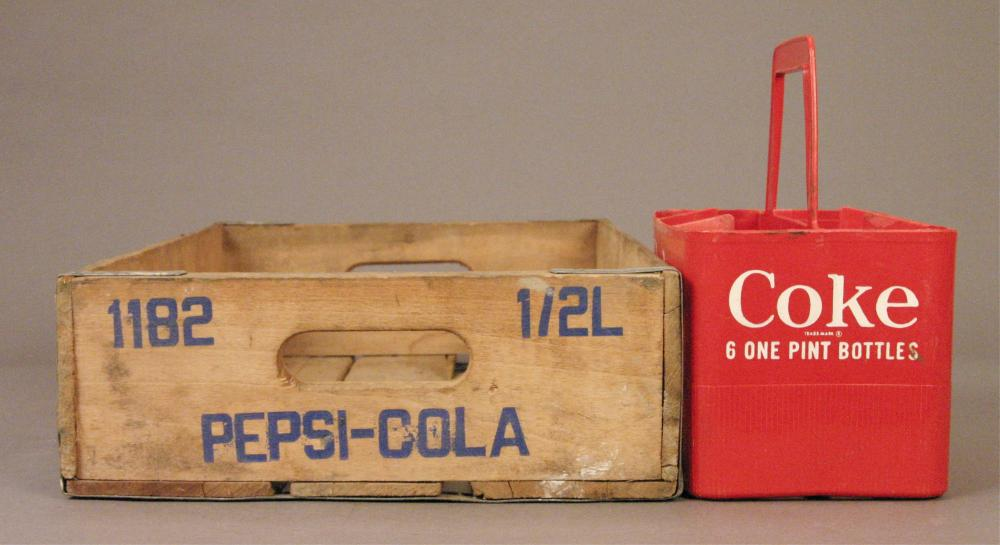 Vintage Wooden Pepsi Crate & Coke Carrier