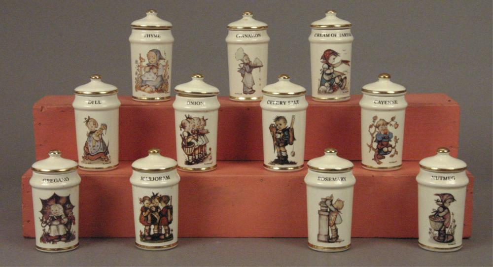 11 M. J. Hummel Spice Containers with Lids