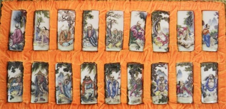 18 RARE Hand Painted Chinese Erotic Treasure Boxes