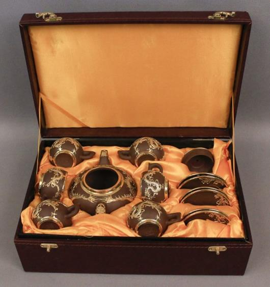 2001 - 24K Gold Embossed Decorative Chinese Tea Set