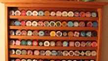 Huge Casino Poker Chip Collection with Rack