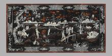 Vietnamese Wood & Mother of Pearl Inlay Panel Wall Art