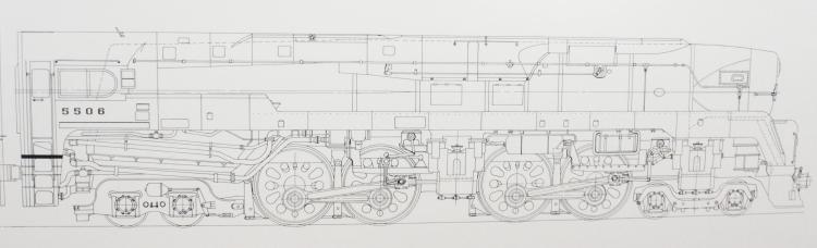 Pennsylvania 5506 t1 train blueprint schematic art framed pr pennsylvania 5506 t1 train blueprint schematic art framed prr 1 malvernweather Gallery