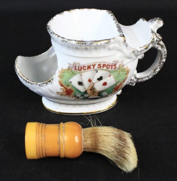 Vintage Ceramic Shaving Mug Made Rite Brush