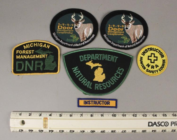 6 Michigan DNR & NRA Hunting Patches
