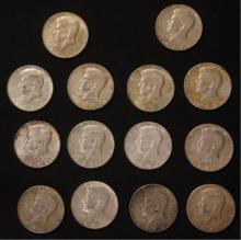 14 - 1966 Kennedy Half Dollars