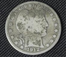 1912 Barber Silver Half Dollar Coin