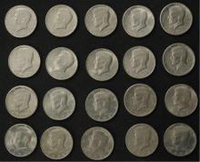 20 - 1960's & 1970's Kennedy Half Dollar Coins