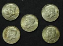 1966, 1967, 1968, & 1969 Kennedy Half Dollars