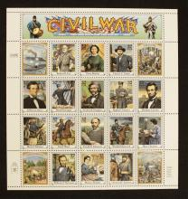 1994 USPS Page of Civil War Collector Stamps