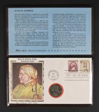 Susan B. Anthony Americana First Day Cover & Coin