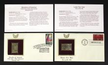 4 - 2008 Wonders of America 22K plated Stamps