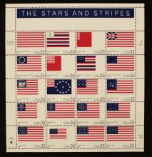 20 - 1999 USPS Page of American Flags