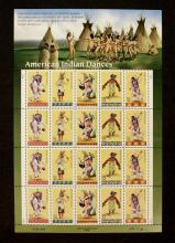 1995 U.S. Page of Native American Indian Stamps