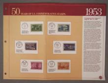 6 - 1953 Commemoratives - 50 years of U.S. Stamps