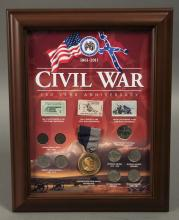 Civil War Coin, Stamp & Medal Display