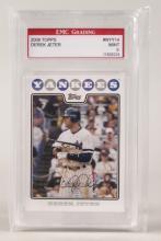 2008 Topps Derek Jeter Baseball Card Graded