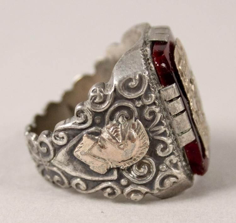 size 11 sterling silver ring made in mexico