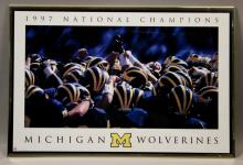 1997 National Champs Michigan Wolverines Poster