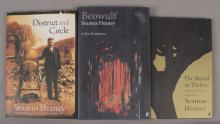 3 Collectible Seamus Heaney Poetry Books